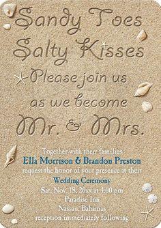 adorable beach wedding invitation wording ideas