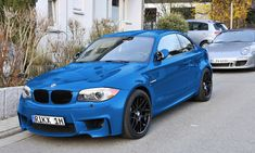 BSM got wrapped in Avery Intense Blue Gloss (~ Laguna Seca Blue) - BMW 1 Series Coupe Forum / 1 Series Convertible Forum / tii / / / Coupe / Cabrio / Hatchback) (BMW 135i Coupe, Old Vintage Cars, Bmw 1 Series, Bmw M2, Pretty Cars, Benz Car, Zoom Zoom, Car Wrap, Bmw Cars