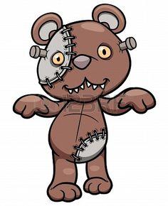 Vector illustration of Evil teddy bear Stock Photo - 20480631