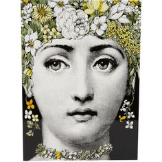 Fornasetti Flora Lacquered Wood Keepsake Box (£500) ❤ liked on Polyvore featuring home, home decor, small item storage, backgrounds, decor, people, faces, multi, flower box and floral boxes
