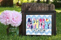 My Little Pony Wall Art!  https://www.etsy.com/listing/193200236/custom-wall-art-decor-my-little-pony?ref=shop_home_active_1