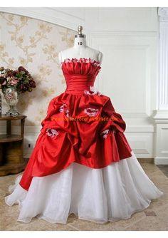 Robe de mariée princesse taffetas organza fleurs