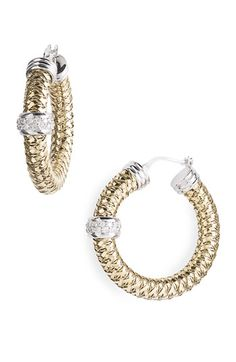 Finish off the ensemble with Roberto Coin earrings from Nordstrom. Class all the way.