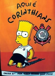 Sport Clu b Corinthians Paulista Corinthians Time, Sport Club Corinthians, Corinthian Fc, Best Club, Sports Clubs, The Simpsons, Bart Simpson, Humor, Yuri