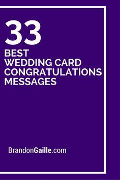 35 Best Wedding Card Congratulations Messages 35 B Wedding Card Messages, Wedding Congratulations Card, Wedding Card Greetings, Wedding Sayings For Cards, Card Wedding, Birthday Greetings, Birthday Wishes, Wedding Favors, Wedding Gifts