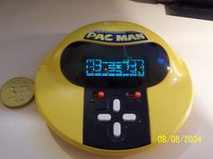 I totally had this Pacman game in great condition until my mom threw it away when I left for college. This game was awesome. Still sad about it. Picture from Jenna G Official Site Handheld Video Games, Mini Arcade, Old School Toys, Getting Played, Man Games, Retro Video Games, Childhood Toys, Vintage Games, Retro Toys
