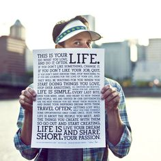 I want this for my birthday!!!  Love the poster....Holstee Manifesto - Terra | HOLSTEE