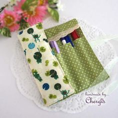 ♫ Roll/ Fold up Pencils Case/ pouch / holder ♫ – Chergis
