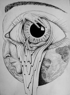 abrir el ojo Más | Beautiful Drawings, Beautiful Eyes, Eye Drawings, Trippy Drawings, Awesome Art, Amazing Artwork, Amazing Photos, Art Things, Psychedelic Art