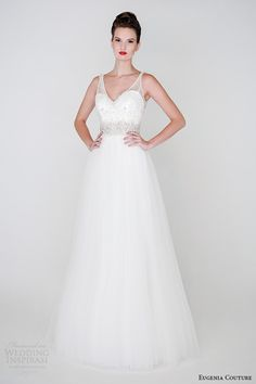 eugenia couture spring 2015 collection sheer strap heartshape neckline a line wedding dress willa 3933