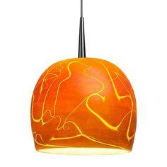 "Bruck Delta 1 Light Mini Pendant Finish: Bronze, Mounting: 4"" Kiss Canopy, Shade Color: Seafoam"