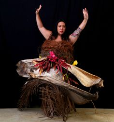 """""""The Birth Of Fashion Revisited"""" project of foliage couture by Louda Larrain inspired by the exuberant nature of Kauai  Photography: Gilles Larrain (www.gilleslarrain.com) Model: Shanda Saraos Rego"""