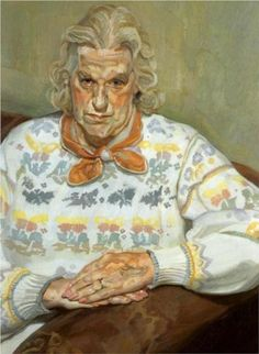 Woman in a Butterfly Jersey - Lucian Freud