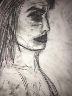 The Pain I've Felt. Charcoal drawing by Katelin Nitschke. http://katelinzoenitschke.wix.com/myart