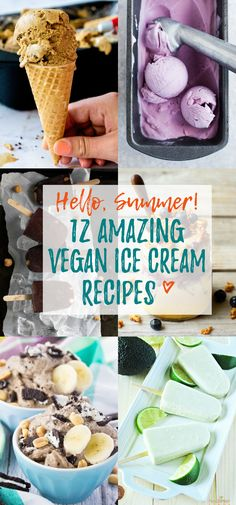 12 vegan popsicles and ice creams you really need to try this summer! They're all dairy-free, creamy, super yummy, and some are even incredibly healthy! <3 | veganheaven.org