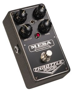 Mesa Boogie Throttle Box Distortion Pedal The THROTTLE BOX™ Distortion serves up all genres of ROCK with cut and aggression, but retains the signature warmth and organic sonic quality found in all our