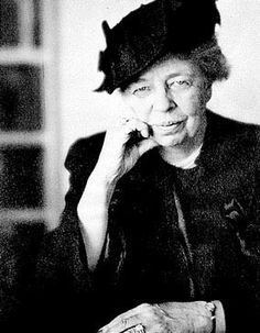 Eleanor Roosevelt.  The First Lady of the United States from 1933 to 1945. She supported the New Deal policies of her husband, distant cousin Franklin Delano Roosevelt, and became an advocate for civil rights. After her husband's death in 1945, Roosevelt continued to be an international author, speaker, politician, and activist.