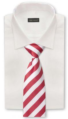 Krawatte rot weiß gestreift von Fabio Farini: Amazon.de: Bekleidung