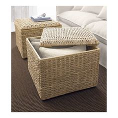 makes a perfect coffee table and storage for throws and pillows, over-sized and so neat!
