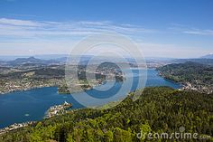 #View From #Observation #Tower @Pyramidenkogel To #Lake #Woerthersee @dreamstime #dreamstime @carinzia #ktr15 @meinwoerthersee #nature #Austria #Carinthia #landscape #season #spring #summer #holidays #vacation #travel #bluesky #wood #forest #stock #photo #portfolio #download #hires #royaltyfree