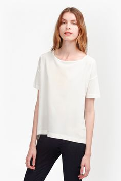Gifty Woven Mix T-Shirt | New Arrivals | French Connection Usa