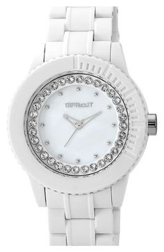 SPROUT™ Watches Crystal Bezel Bracelet Watch, 45mm available at #Nordstrom