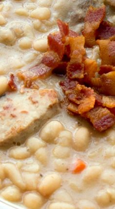 Creamy White Bean and Pork Stew - djm - 2016 - used black beans cause that's all I had, added an onion