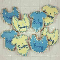 Baby shower cookies in unisex yellow and blue.  #sweethandmadecookies #customcookies #decoratedcookies #designercookies #cookies #bradfordontariocookies #babyshowercookies #babyshower #unisexbabyshower