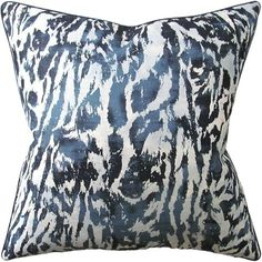 catsburg+indigo+pillow+-+Catsburg+Indigo+Pillow.+Silk+Piping.+Linen+Reverse.+Down/Feather+Insert.