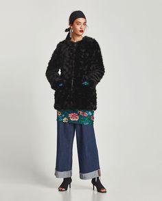 Image 1 of FAUX FUR COAT from Zara