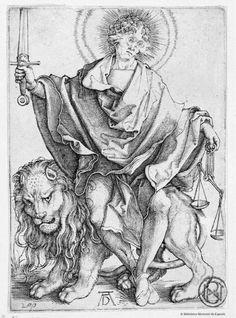 [El sol de justicia]. Dürer, Albrecht 1471-1528 — Grabado — 1500
