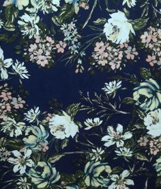 71908bf9704 Brushed polyester fabric Light Colors, Wild Flowers, Spandex, Yard, Fabric,  Blue