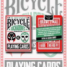Bicycle Luchadores deck playing cards.