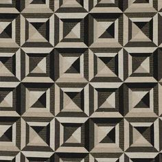 Labyrinth Licorice by Kravet Basics Fabric Patterns, Print Patterns, Modern Upholstery Fabric, Swatch, Quilts, Blanket, How To Make, Geometric Prints, Mudroom