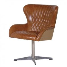 Brown Leather Swivel Chair £546.00
