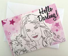 Hello Darling- Real Housewives Lisa Vanderpump Card/Invitation by Katsillustration on Etsy