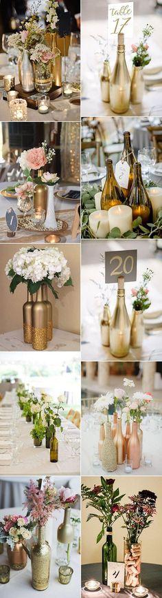 bouteilles de vin bricolage créatif centres de mariage #weddingideas #weddingdecor #wedd ... #bouteilles #bricolage #centres #creatif #diydecorationsWedding #mariage #weddingdecor #weddingideas