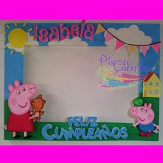 Girl Birthday Themes, Pig Birthday, Little Girl Birthday, Bday Girl, 2nd Birthday Parties, Peppa Pig Pinata, Cumple Peppa Pig, Peppa Pig Pictures, Ben And Holly Party Ideas