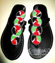 Maasai Sandals - Ladies by KenyasArtwork on Etsy