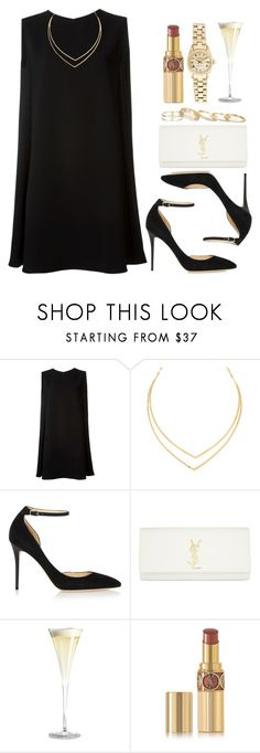 """""""Style #10057"""" by vany-alvarado ❤ liked on Polyvore featuring McQ by Alexander McQueen, Lana, Jimmy Choo, Yves Saint Laurent, Rolex and Kendra Scott"""