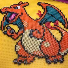 Charizard - Pokemon perler beads by splattycake