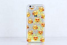 Emoji Love Glitter Hearts Phone Case