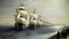 The inspection of the Black Sea fleet 1849 (Emperor Nicholas I) ~ painted 1886, by Iwan Konstantinowitsch Aiwasowski