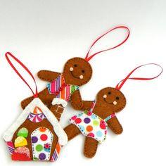 Felt Gingerbread House Christmas Tree by MerrilyMadeHartworks