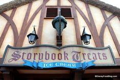Reasonably priced sundaes (Brownie / strawberry shortcake) at Storybook Treats near Fantasyland!