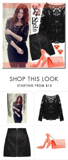 """SHEIN NEW CONTEST"" by edita-n ❤ liked on Polyvore featuring sass & bide, Christian Louboutin and Kate Spade"