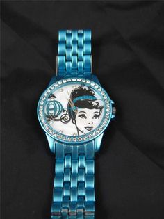 Cinderella Disney Mother Of Pearl Sketch Watch