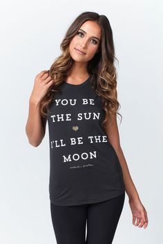 YOU BE THE SUN MUSCLE TANK VINTAGE BLACK | Spiritual Gangster Yoga Clothing for a new generation of yogis