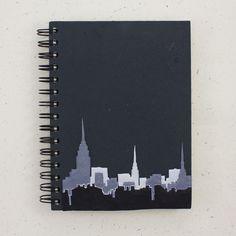Large Notebook NYC Skyline Black