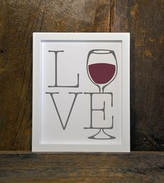LOVE WINE » Digital Download » 8 x 10 » GREY/RED  You will receive: 1 JPG with 8 x 10 image  I recommend printing on photo paper for optimal colour and quality. PLEASE NOTE: No physical product will be mailed. You are purchasing a digital file only. NO PRINTED MATERIALS OR FRAME ARE INCLUDED.  The files will be delivered electronically. Within minutes of your order and payment, an email will be sent to the address you have associated with your Etsy account with a link for your download....